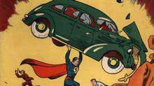 """June 1938 cover of """"Action Comics"""" that first featured Superman."""