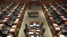 The Legislative Chamber of the Ontario Parliament in Toronto stands empty on October 16, 2012. (Chris Young/THE CANADIAN PRESS)