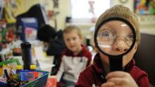 Children in a senior kindergarten class at St. Thomas More Catholic School in Scarborough, Ont., in this Dec. 8, 2009 file photo. (Kevin Van Paassen/Kevin Van Paassen/The Globe and)
