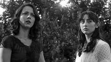 Amy Acker, left, and Jillian Morgese in a scene from Much Ado About Nothing, shot by Joss Whedon in 12 days at his sprawling family home in Santa Monica. (Elsa Guillet-Chapuis/AP/Roadside Attractions)