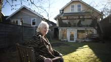 Jo Pleshakov had no choice but to sell her house, which is being torn down. is photographed in the backyard of her home that she recently sold after 35 years in the Dunbar neighbourhood in Vancouver, British Columbia, Wednesday, February 5, 2014. The new buyer will demolish the current structure and rebuild a new house. Rafal Gerszak for The Globe and Mail (Rafal Gerszak for the globe and mail)