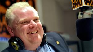 March 25, 2010. Councilor Rob Ford announces his bid to run for mayor of Toronto, at a Toronto talk radio station in Toronto, March 25, 2010. (J.P. Moczulski/The Globe and Mail)