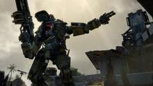 Titanfall's mechs can be devastating, but also surprisingly vulnerable. They can be easily destroyed when tag-teamed by opponent Titans, or if a Pilot is particularly reckless and doesn't play defence. Unlike the human combatants, the mechs don't regenerate health, which is why it's wise for them to take cover whenever their shields go down. (Electronic Arts)