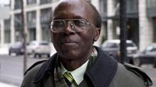 Léon Mugesera is shown outside federal court in Montreal on Jan. 9, 2012. (PAUL CHIASSON/THE CANADIAN PRESS)
