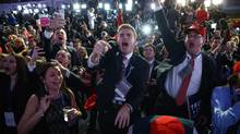 Donald Trump supporters cheered his presidential victory last November; in Pankaj Mishra's latest book, the personal and political are conflated, allowing us to see how anger becomes ideology. (Evan Vucci/The Associated Press)