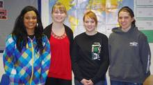 Students at Minnedosa Collegiate (from left to right): Samantha McIntosh, Emily Kingdon, Paxton Johnson, Jennifer Curle
