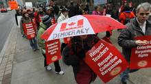 Toronto public elementary teachers and occasional teachers will stage a one-day strike this Tuesday December 18 to continue sending the government a message that Bill 115 is severely impeding local collective bargaining. (Peter Power/Globe and Mail)