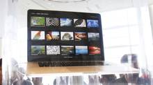 The new Macbook Pro is pictured during the Apple Worldwide Developers Conference 2012 in San Francisco, California June 11, 2012. Before confirming that it would stand by the standard, various government agencies and schools that use the EPEAT certification system were considering dropping Apple's products, which include Macintosh computers and iPads. (STEPHEN LAM/REUTERS)