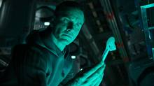 Michael Fassbender stars in Alien: Covenant. Over the course of three films now, Ridley Scott has expertly tapped the inexhaustible resource that is Fassbender, eyes and all. (Twentieth)