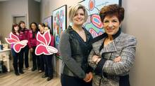 With their team of nannies, Shauna and Audrey Guth provide free child care. (Fernando Morales/The Globe and Mail)