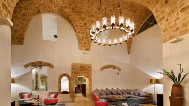 Ottoman arches in the hotel lobby were restored to their former glory during an eight and a half year restoration. Hotel owner Uri Jeremias invited Israel's Department of Antiquities to oversee the preservation of the property's marble floors, frescoes and painted ceilings.