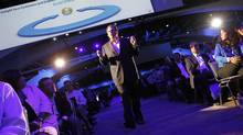 Salesforce CEO Marc Benioff walks among attendees as he delivers his keynote address at the Dreamforce event in San Francisco, California August 31, 2011. (ROBERT GALBRAITH/REUTERS)