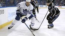 Brian Boyle has been a productive fourth-line centre since joining the Maple Leafs via trade in February. (Mike Carlson/Getty Images)