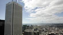 The west looking view from the 50th floor of the new Bay-Adelaide Centre as unveiled by Brookfield properties September 16, 2009. (J.P. MOCZULSKI For The Globe and Mail)