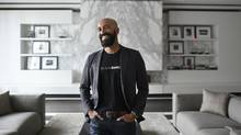 Andrew D'Souza, Co-Founder & CEO Clearbanc, is photographed in a common lounge space in his downtown Toronto condo on Jan 5 2017. (Fred Lum/The Globe and Mail)