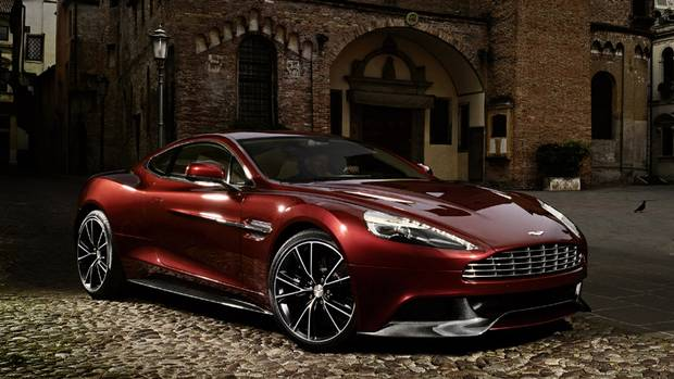 The new Aston Martin Vanquish. With its 6.0 litre V12 engine, it will go from 0-100 km in 4.1 seconds and has a top speed of 183 mph, or 294 km/h. (Aston Martin)