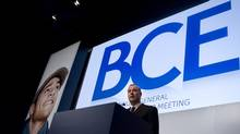 George Cope, president and CEO of BCE Inc., takes a question from a shareholder during the company's annual meeting in Toronto, May 12, 2011. (Chris Young/CP/Chris Young/CP)
