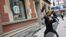 Toronto police say at least $600,000 in damages was caused by anti-G20 summit protesters in Toronto. (Kevin Van Paassen/The Globe and Mail)