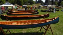 More than 300 members of the Wooden Canoe Heritage Association gathered in New York State's Adirondack Park last week for the group's annual assembly. (Roy MacGregor/Globe and Mail)