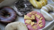A box of Paulette's doughnuts. (J.P. MOCZULSKI for The Globe and Mail)