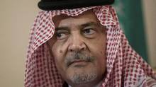 Prince Saud al-Faisal, the kingdom's foreign affairs minister at the time, described in a memo the Conservative government's plans to tighten bonds between the Canada and Saudi Arabia. (Brendan Smialowski/AP)