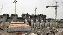 The construction site of the hydroelectric facility at Muskrat Falls, Newfoundland and Labrador is seen on Tuesday, July 14, 2015. (Andrew Vaughan/THE CANADIAN PRESS)