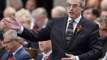 Treasury Board President Tony Clement responds during Question Period in the House of Commons on Parliament Hill in Ottawa, Wednesday May 7, 2014 . (Adrian Wyld/THE CANADIAN PRESS)