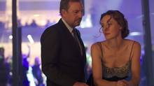 Kevin Costner and Connie Nielsen in 3 Days to Kill. (Julian Torres)