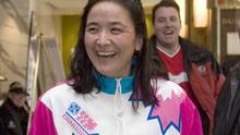 Team Canada's Vicky Sunohara, seen wearing her 1990 team tracksuit at the Women's World Hockey Championships in Winnipeg in 2007, was so ecstatic to be representing her country at the inaugural Women's World Cup of Hockey that it didn't bother her that instead of Canada's traditional red and white, the jerseys were hot pink. (Adrian Wyld/CP)