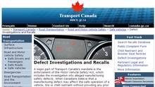 Transport Canada's website provides information the public about safety recalls, defect investigations, safety complaints and technical service bulletins.