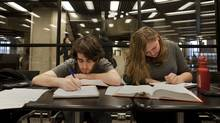 University of Toronto students Paul Nirenberg and Tanya Brekelmans study in Robarts Library on Feb. 15, 2012. (Matthew Sherwood for The Globe and Mail/Matthew Sherwood for The Globe and Mail)