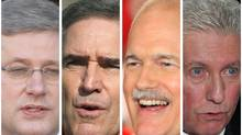 From left: Stephen Harper, Michael Ignatieff, Jack Layton and Gille Duceppe (The Canadian Press)