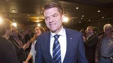 Wildrose Leader Brian Jean announced he plans 'to be Alberta's next premier.' His entry into a possible race was welcomed by Jason Kenney, the Progressive Conservative leadership front-runner. (JASON FRANSON/THE CANADIAN PRESS)