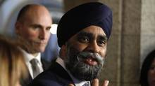 Defence Minister Harjit Sajjan makes an announcement on Parliament Hill in Ottawa on March 9, 2017. (PATRICK DOYLE/THE CANADIAN PRESS)