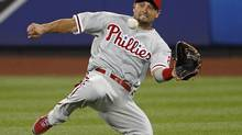 Center fielder Shane Victorino is on the move from Philadelphia to Los Angeles. (ADAM HUNGER/REUTERS)