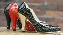 Fluevog shoes. (LAURA LEYSHON for The Globe and Mail)