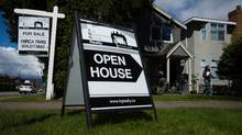 A potential buyer leaves after viewing a home listed for sale for $1.725-million during an open house in the neighbourhood of Arbutus, in Vancouver, B.C., on Saturday April 25, 2015. (DARRYL DYCK For The Globe and Mail)