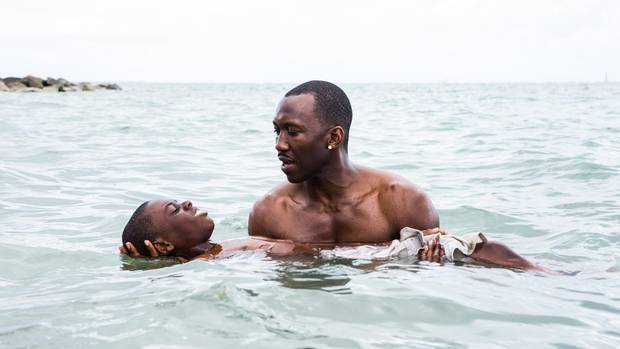Mahershala Ali and Jaden Piner in Moonlight.