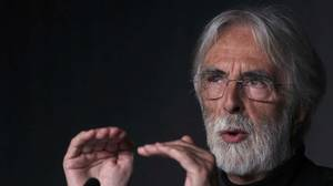 Director Michael Haneke attends a news conference for the film