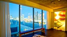 Penthouse 1027 at 55 Stewart St. has two walls of windows, facing east and west, affording views of the city skyline in addition to Lake Ontario. (JJ Thompson/JJ Thompson)