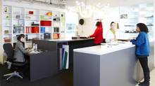 Toronto`s Quadrangle Architects have turned their office space in a character-less building and made it support their ideal of creativity. (Naomi Finlay)