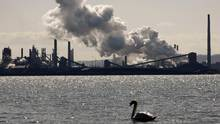 Steam billows from a stack at the U.S. Steel Canada plant in Hamilton in this file photo taken March 4, 2009. (MIKE CASSESE/REUTERS)