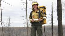 Michelle Wigmore is one of the most experienced firefighters in Fort McMurray. (Handout)