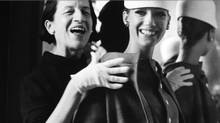 "Diana Vreeland (left) in a scene from ""The Eye Has to Travel"""