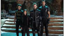 (from left): Sun Spot (Adan Canto), Kitty Pryde (Ellen Page), Iceman (Shawn Ashmore) and Colossus (Daniel Cudmore) prepare for an epic battle to save their kind. (Alan Markfield)