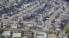 A devastated neighbourhood in Fort McMurray, Alta., May 13, 2016. (JASON FRANSON/THE CANADIAN PRESS)