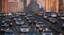 Rush hour traffic heading west on the Gardiner Expressway Nov 10, 2010. (Moe Doiron/The Globe and Mail)