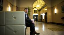 Despite his reputation, Harry Gugger doesn't consider himself a 'starchitect.' Architect Harry Gugger is photographed in the lobby of the Old Stock Exchange in Vancouver, British Columbia, Friday, February 22, 2013. Rafal Gerszak for The Globe and Mail (Rafal Gerszak for the globe and mail)