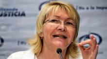 Luisa Ortega Diaz during a press conference in Caracas, on October 21, 2013. (JUAN BARRETO/AFP/Getty Images)