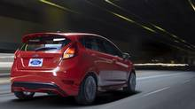 This 2014 Ford Fiesta ST has a 1.6-litre EcoBoost engine producing nearly 200 horsepower. A 1.0-litre engine will also be available. (Ford)